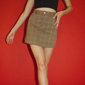 Brandy Melville plaid juliette skirt